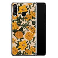Huawei P30 Lite siliconen hoesje - Retro flowers