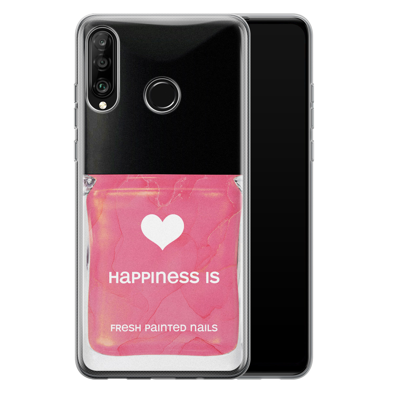 Huawei P30 Lite siliconen hoesje - Nagellak