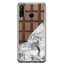 Leuke Telefoonhoesjes Huawei P30 Lite siliconen hoesje - Chocoladereep