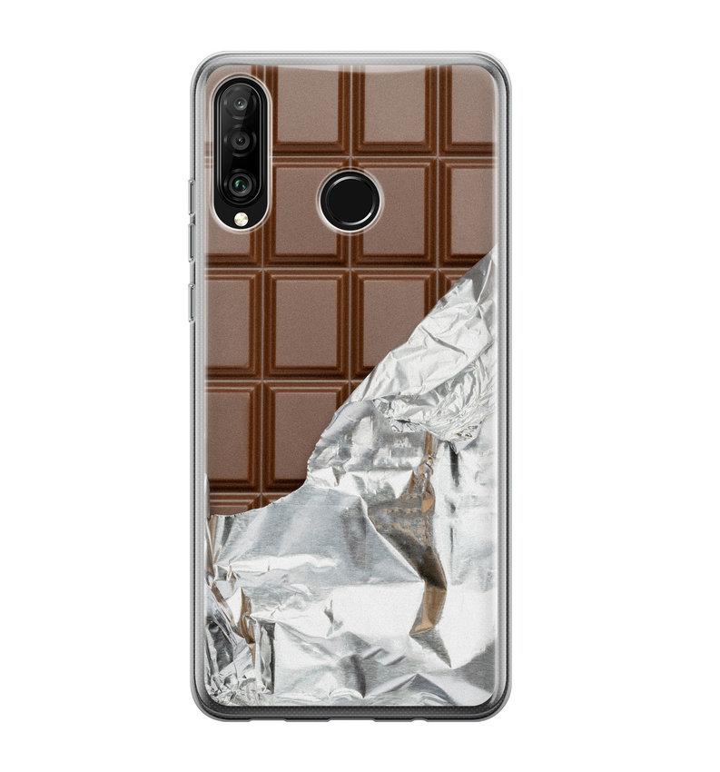 Huawei P30 Lite siliconen hoesje - Chocoladereep