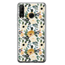 Leuke Telefoonhoesjes Huawei P30 Lite siliconen hoesje - Lovely flower