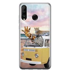 Leuke Telefoonhoesjes Huawei P30 Lite siliconen hoesje - Wanderlust