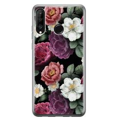 Huawei P30 Lite siliconen hoesje - Bloemenliefde