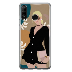Huawei P30 Lite siliconen hoesje - Abstract girl