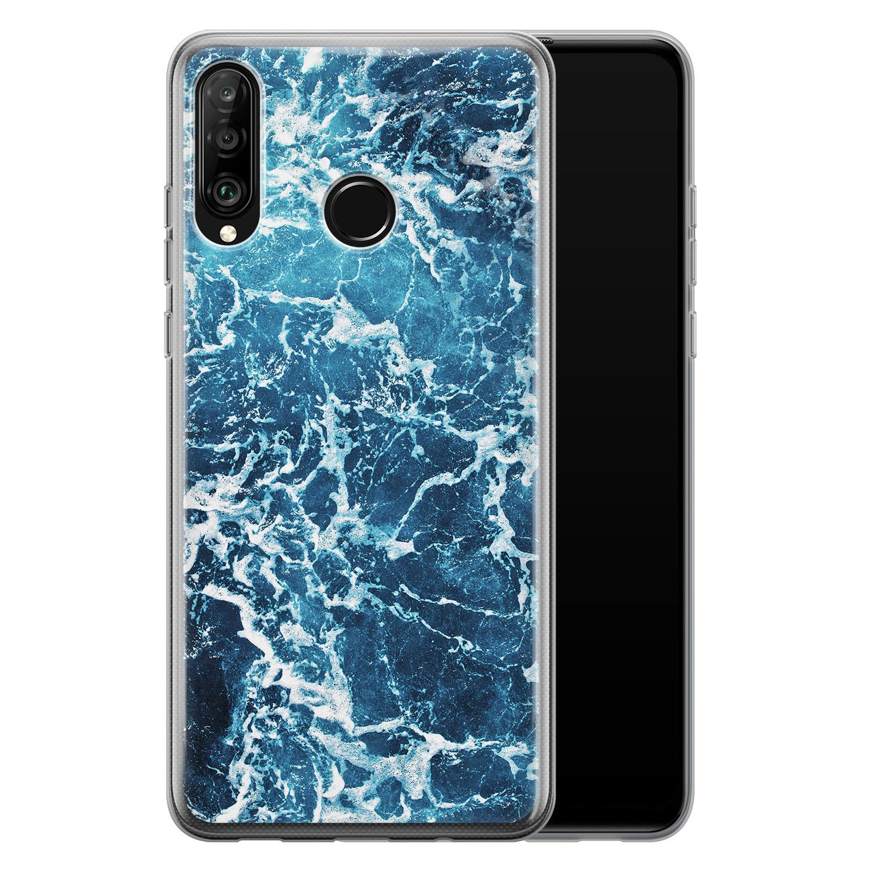 Huawei P30 Lite siliconen hoesje - Ocean blue