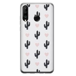 Huawei P30 Lite siliconen hoesje - Cactus love