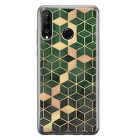 Huawei P30 Lite siliconen hoesje - Green cubes