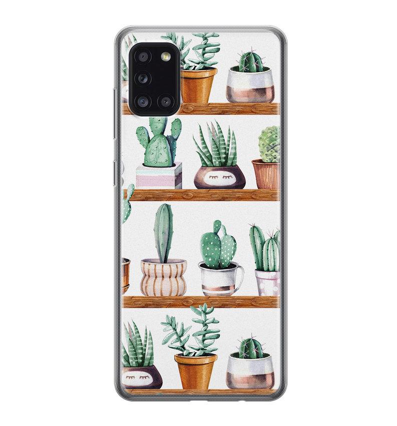 Samsung Galaxy A31 siliconen hoesje - Cactus