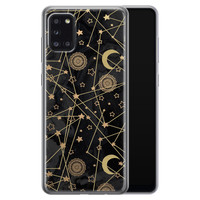 Samsung Galaxy A31 siliconen hoesje - Sun, moon, stars
