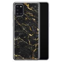 Samsung Galaxy A31 siliconen hoesje - Marmer zwart goud