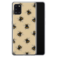 Samsung Galaxy A31 siliconen hoesje - Bee happy