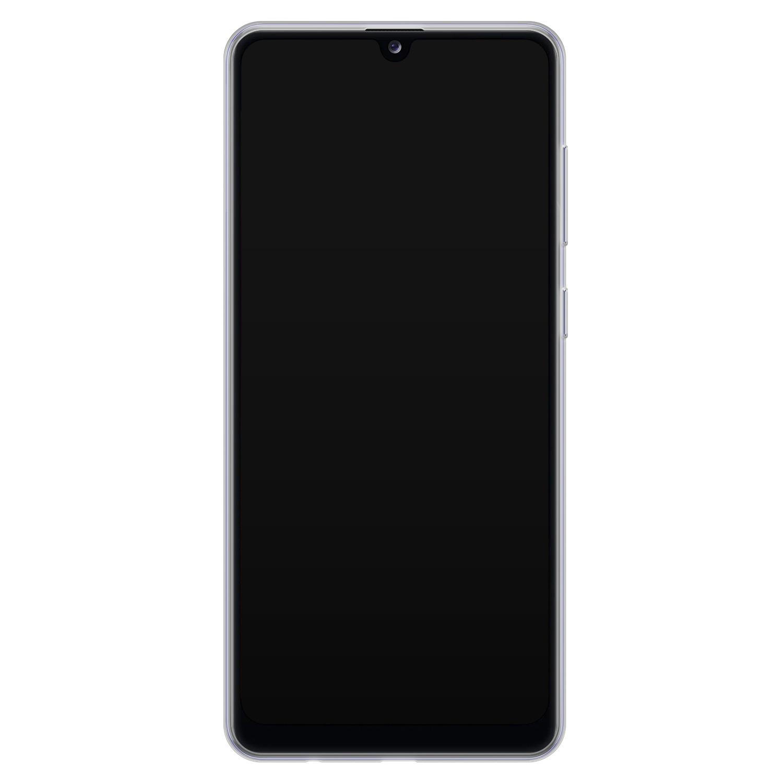 Samsung Galaxy A31 siliconen hoesje - Marmer grijs