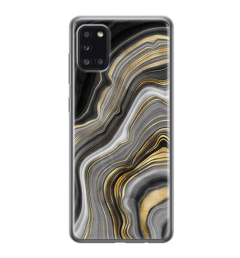 Samsung Galaxy A31 siliconen hoesje - Golden agate