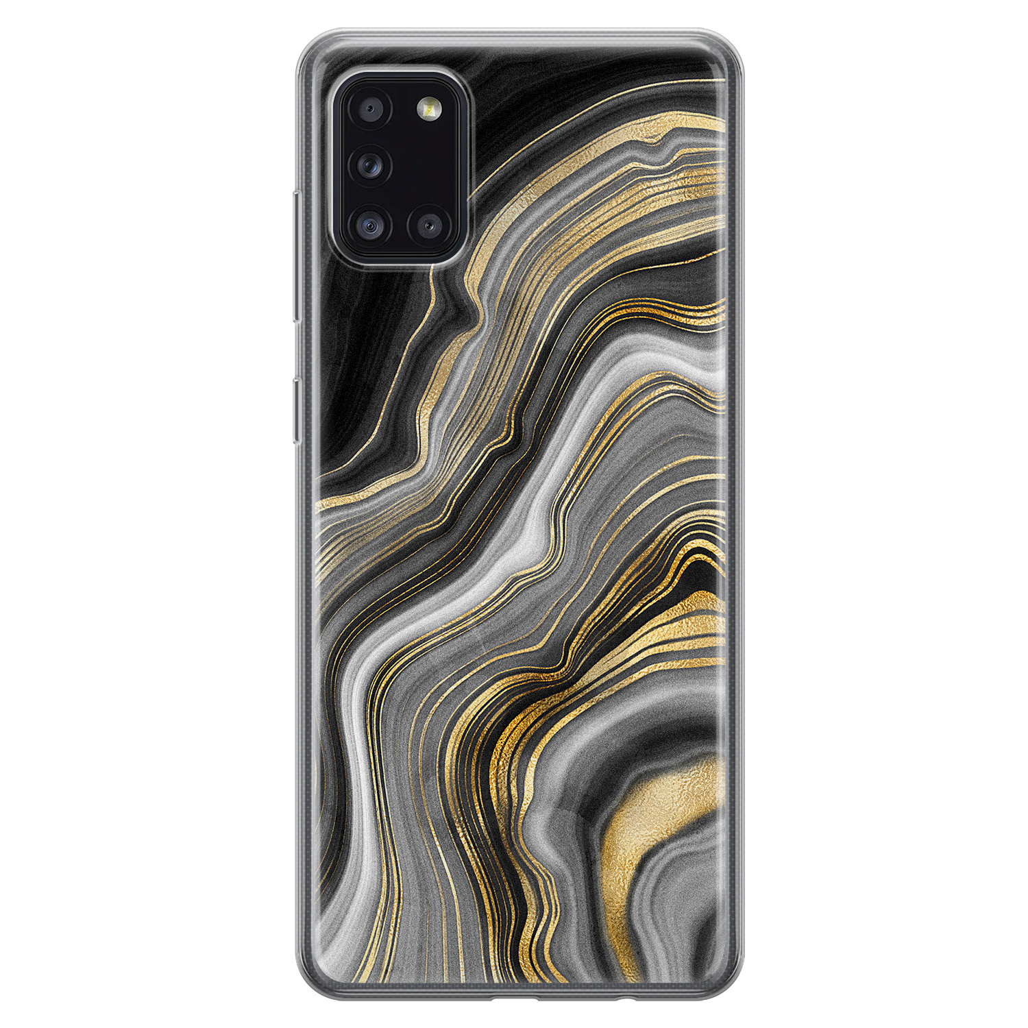Samsung Galaxy A31 siliconen hoesje - Golden agate