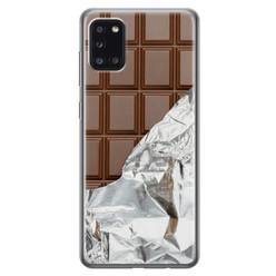 Leuke Telefoonhoesjes Samsung Galaxy A31 siliconen hoesje - Chocoladereep