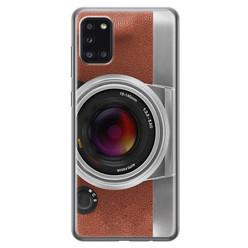 Samsung Galaxy A31 siliconen hoesje - Vintage camera