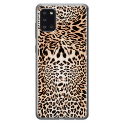 Leuke Telefoonhoesjes Samsung Galaxy A31 siliconen hoesje - Wild animal