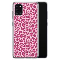 Samsung Galaxy A31 siliconen hoesje - Luipaard roze