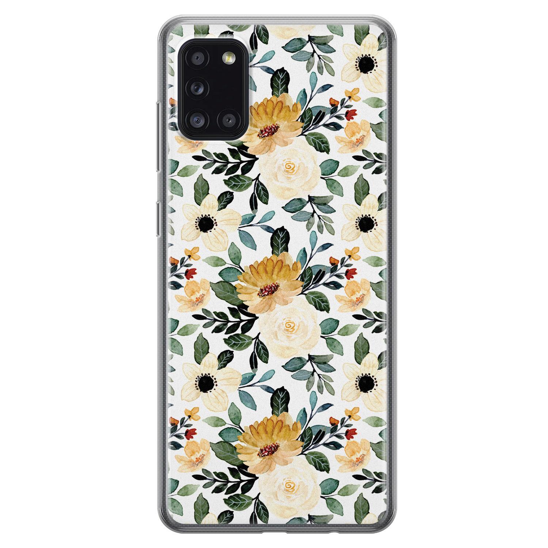 Samsung Galaxy A31 siliconen hoesje - Lovely flower