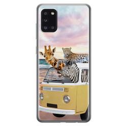 Leuke Telefoonhoesjes Samsung Galaxy A31 siliconen hoesje - Wanderlust
