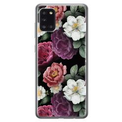 Samsung Galaxy A31 siliconen hoesje - Bloemenliefde