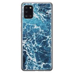 Leuke Telefoonhoesjes Samsung Galaxy A31 siliconen hoesje - Ocean blue