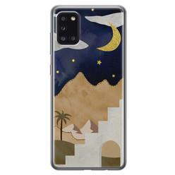 Leuke Telefoonhoesjes Samsung Galaxy A31 siliconen hoesje - Desert night