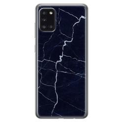 Leuke Telefoonhoesjes Samsung Galaxy A31 siliconen hoesje - Marmer navy blauw