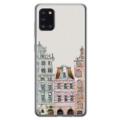Leuke Telefoonhoesjes Samsung Galaxy A31 siliconen hoesje - Grachtenpandjes
