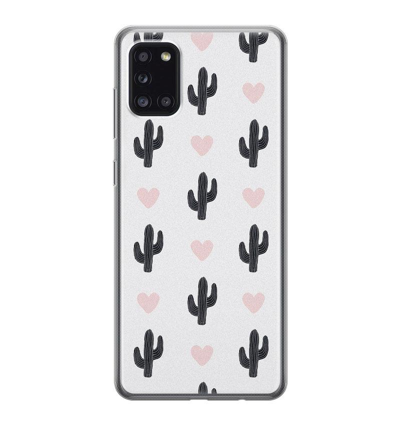 Samsung Galaxy A31 siliconen hoesje - Cactus love