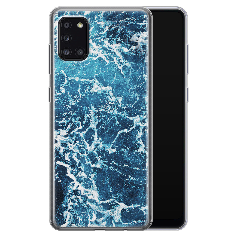 Samsung Galaxy A31 siliconen hoesje - Ocean blue