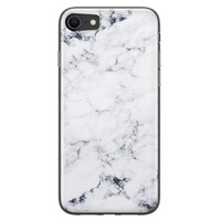 iPhone SE 2020 siliconen hoesje - Marmer grijs