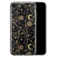 iPhone SE 2020 siliconen hoesje - Sun, moon, stars