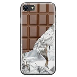 Leuke Telefoonhoesjes iPhone SE 2020 siliconen hoesje - Chocoladereep