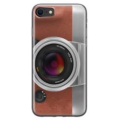 Leuke Telefoonhoesjes iPhone SE 2020 siliconen hoesje - Vintage camera