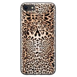 Leuke Telefoonhoesjes iPhone SE 2020 siliconen hoesje - Wild animal