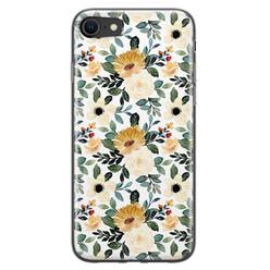 Leuke Telefoonhoesjes iPhone SE 2020 siliconen hoesje - Lovely flower