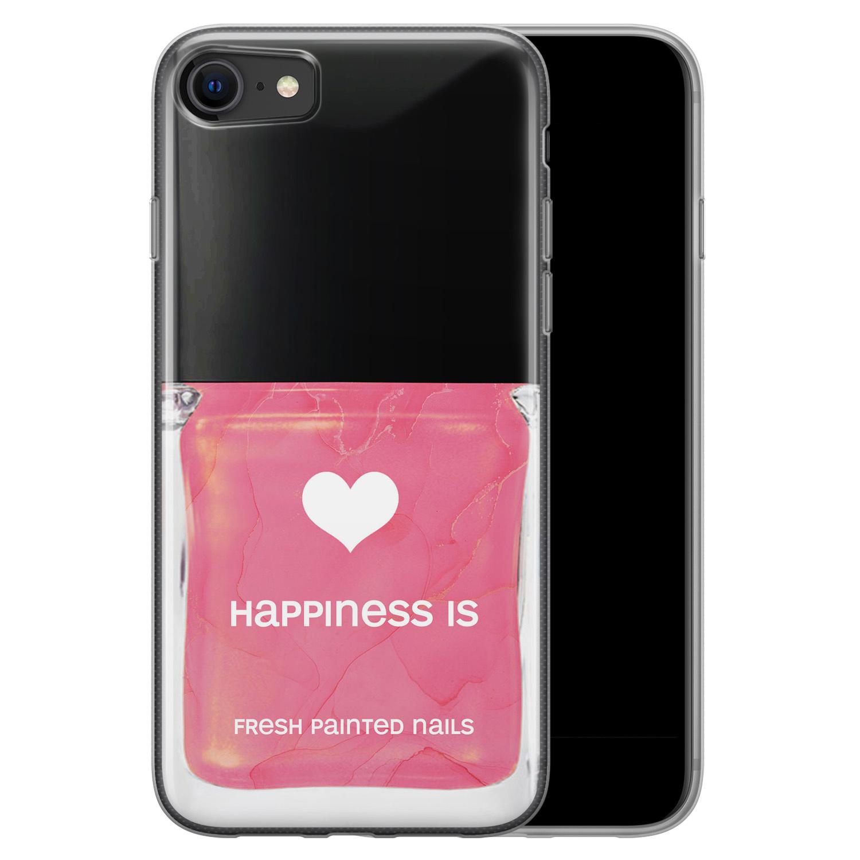 iPhone SE 2020 siliconen hoesje - Nagellak