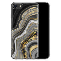 iPhone SE 2020 siliconen hoesje - Golden agate
