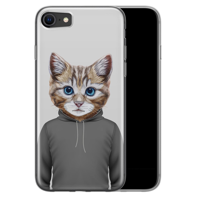 iPhone SE 2020 siliconen hoesje - Poezenhoofd