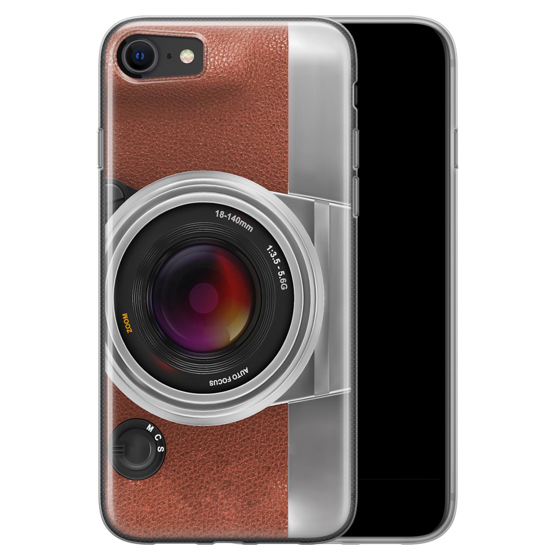 iPhone SE 2020 siliconen hoesje - Vintage camera
