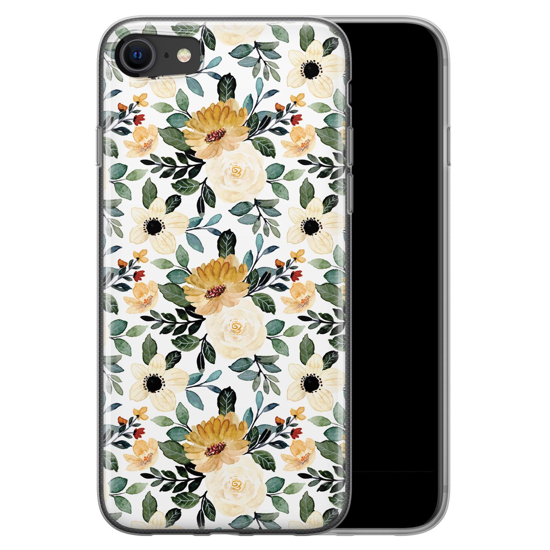 iPhone SE 2020 siliconen hoesje - Lovely flower