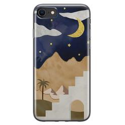 Leuke Telefoonhoesjes iPhone SE 2020 siliconen hoesje - Desert night