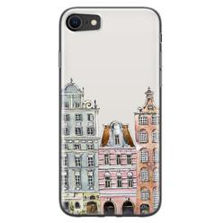 Leuke Telefoonhoesjes iPhone SE 2020 siliconen hoesje - Grachtenpandjes