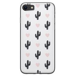 iPhone SE 2020 siliconen hoesje - Cactus love