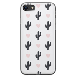 Leuke Telefoonhoesjes iPhone SE 2020 siliconen hoesje - Cactus love