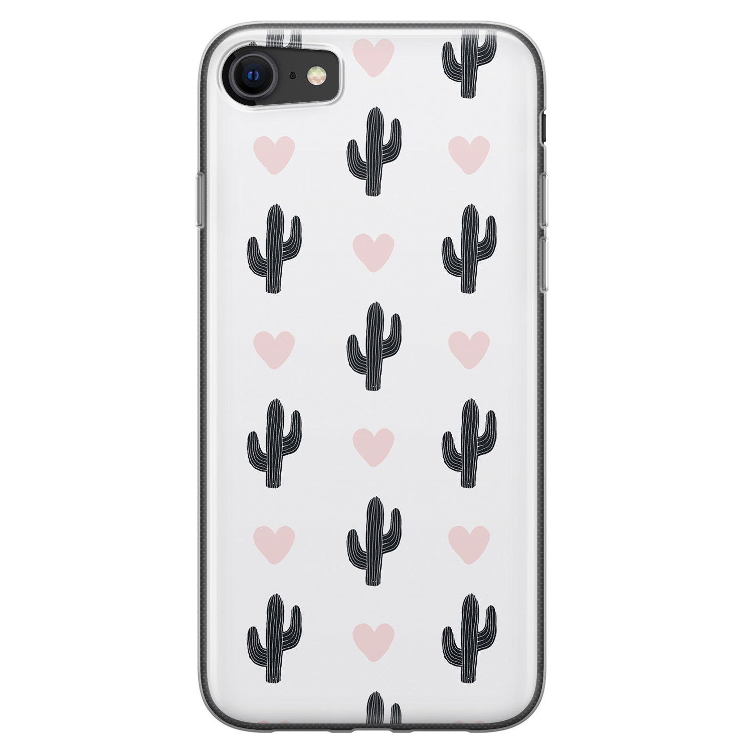 iPhone SE 2020 siliconen hoesje - Cactus love