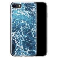 Leuke Telefoonhoesjes iPhone SE 2020 siliconen hoesje - Ocean blue