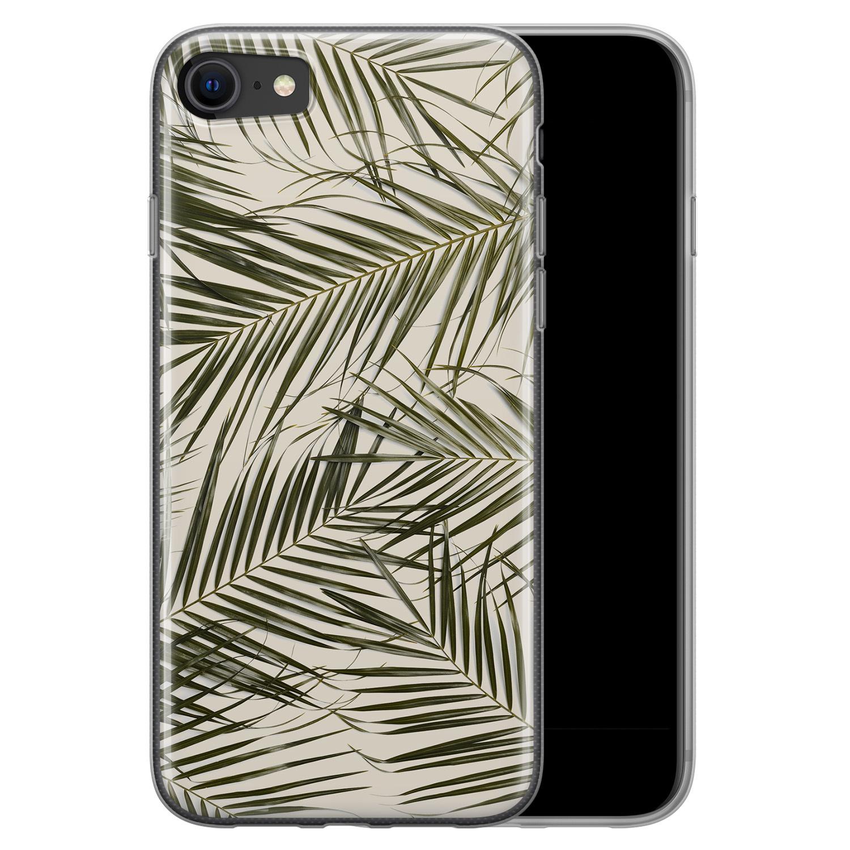 Leuke Telefoonhoesjes iPhone SE 2020 siliconen hoesje - Leave me alone
