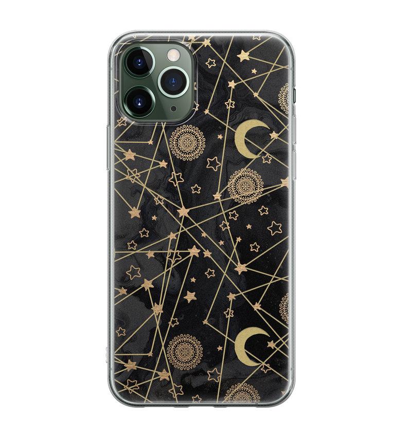 iPhone 11 Pro siliconen hoesje - Sun, moon, stars